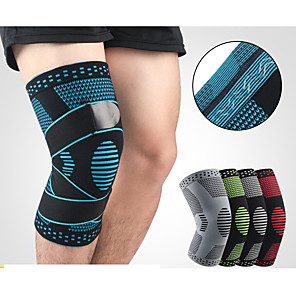 cheap Running Bags-Knee Brace Knee Sleeve Sporty for Joint Pain and Arthretith Marathon Running Adjustable Anti-slip Strap Joint support Men's Women's Silicon Nylon Spandex Fabric 1 Piece Sports Black / Red