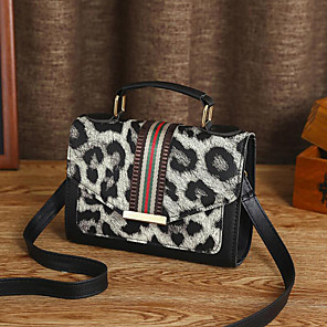 cheap Handbag & Totes-Women's Polyester / PU Top Handle Bag Geometric Pattern Red / Blue / White