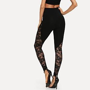 cheap iPhone Cases-Women's Sporty Slim Sweatpants Pants - Solid Colored Black S / M / L