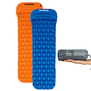 cheap Sleeping Bags & Camp Bedding-Naturehike Inflatable Sleeping Pad Air Pad with Pillow Outdoor Camping Lightweight Rain Waterproof High Elasticity Wear Resistance TPU Nylon 59*198*6.5 cm for 1 person Camping / Hiking / Caving All