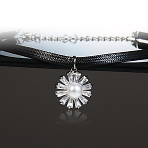 cheap Party Sashes-Women's Necklace Friends European Romantic Casual / Sporty Sweet Chrome White 40 cm Necklace Jewelry 1pc For Street Festival