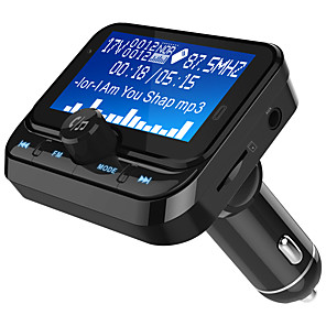 cheap Bluetooth Car Kit/Hands-free-BC32  Car FM Transmitter Bluetooth 1.8inch Disply Bluetooth FM Transmitter Wireless Audio Transmitter Adapter Car Kit With 2 USB Ports TF Card Slot 4 Music Playing Hands Free Calls AUX Input
