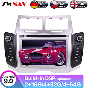 cheap Car DVD Players-ZWNAV 6.2inch 2din 4GB 64GB DSP Android 9 Car DVD Player Car GPS Navigation auto stereo radio tape recorde Car multimedia player for Toyota Yaris 2005-2011