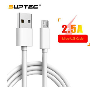 cheap Cell Phone Cables-SUPTEC 3m Micro USB Cable for Sony LG Huawei Xiaomi Redmi Samsung A7 Android Phone Charger Adapter Cord Fast Charging Data Cable4.9
