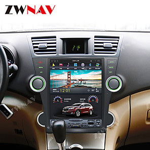 cheap Car DVD Players-ZWNAV 12.1 Inch 1DIN Android 8.1 4GB 64GB Tesla style Car DVD Player GPS Navigation auto Car multimedia player For Toyota Highlander 2007-2013