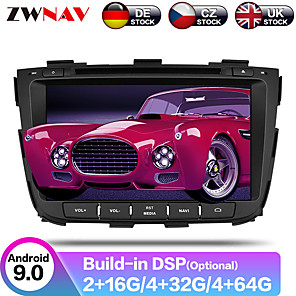 cheap Car DVD Players-ZWNAV 8inch 2din Android 9 Car CD DVD Player Car GPS Navigation Auto stereo radio tape recorder Car Multimedia Player IPS For KIA SORENTO 2012-2015