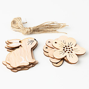 cheap Wedding Decorations-Ornaments Wood 8pcs Easter