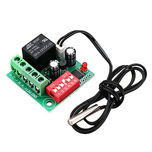 cheap Relays-Digital Temperature Controller Switch Thermostat Adjustable DC 12V Cooling Controller W1701