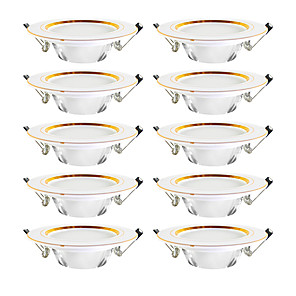 cheap LED Recessed Lights-Set of 10PCS  Tricolor  Ultra Bright Round LED Downlight 5W Aluminum AC110V 220V LED Down Light Ceiling Recessed Spot Light