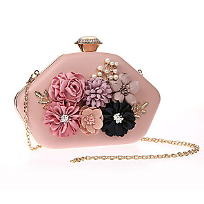 cheap Clutches & Evening Bags-Women's Flower Polyester Evening Bag Floral Print Black / White / Blushing Pink