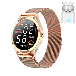 cheap Smart Wristbands-JSBP MK10 Smart Watch BT Fitness Tracker Support Notify/Heart Rate Monitor Sport Stainless Steel Bluetooth Smartwatch Compatible IOS/Android Phones TWS Distribution Ear Machine