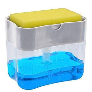 cheap Cleaning Protection-Multifunction Soap Dispenser Sponge Caddy Non-toxic Odorless Dispenser Kitchen Rack Creative Bathroom Washing Soap Storage Box