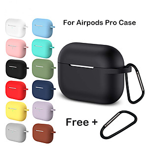cheap On-ear & Over-ear Headphones-Silicone Case For Airpods Pro Case Wireless Bluetooth for apple airpods pro Case Cover Earphone Case For Air Pods pro 3 Fundas