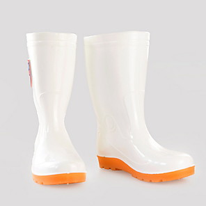 cheap Shoes Covers & Rainshoes-Men's PVC Spring & Summer Casual Boots Wear Proof Mid-Calf Boots White