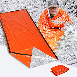 cheap Sleeping Bags & Camp Bedding-Emergency Blanket Emergency Sleeping Bag Outdoor Camping Envelope / Rectangular Bag Single Synthetic Thermal / Warm Radiation Protection Heat Retaining Heat-Insulated 213*91 cm All Seasons for