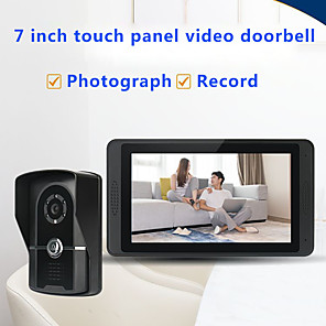 cheap Video Door Phone Systems-Wired 7 Inch Hands-free 800*480 Pixel One To One Video Doorphone