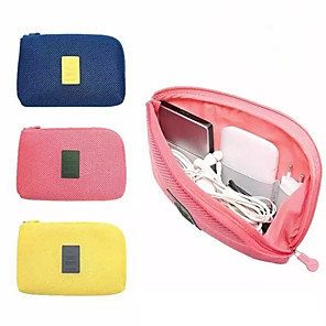 cheap Sleeves,Cases & Covers-Portable Kit Case Storage Bag Digital Gadget Devices USB Cable Earphone Pen Bag Travel Storage Bag for Digital Data