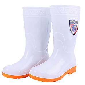 cheap Shoes Covers & Rainshoes-Men's PVC Spring & Summer Boots Waterproof Mid-Calf Boots White