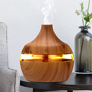 cheap Humidifiers-300ml USB Electric Aroma air diffuser wood Ultrasonic air humidifier Essential oil Aromatherapy cool mist maker for home car