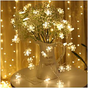 cheap LED String Lights-Snowflake String Lights LED Small Lights Star Lights Battery Box Flashing Lights Christmas Day Ins Decorative Lights