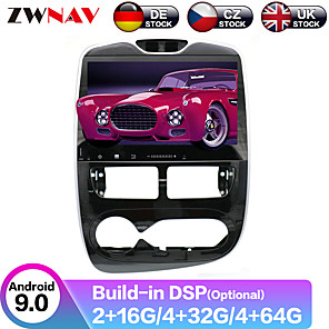 cheap Car DVD Players-ZWNAV 10.1inch 1din PX6 PX5 DSP 4GB 64GB Android 9 Car DVD Player Car GPS navigation radio recorder Car MP5 Player car Multimedia Player  IPS screen For Renault Clio 2013-2018