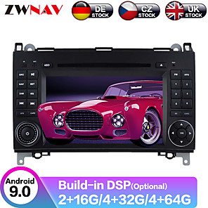 cheap Car DVD Players-ZWNAV 7inch 2din Android 9.0 Car DVD Player Car MP5 Player GPS Auto Stereo Radio Car Multimedia Player For Mercedes Benz B200 / B-class / W245 / B170 / W169