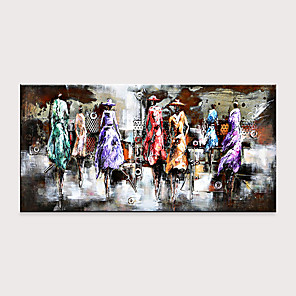 cheap Abstract Paintings-Handmade Large Fashion Show Contemporary Abstract Art Decor Canvas Oil Painting Rolled Without Frame