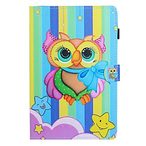 cheap Samsung Case-Case For Samsung Galaxy Tab A2 10.5(2018) / Samsung Tab A 10.1(2019)T510 / Samsung Tab A 8.0(2019)T290/295 Card Holder / with Stand / Flip Full Body Cases Animal PU Leather