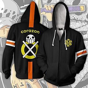 cheap Anime Costumes-Inspired by One Piece Trafalgar Law Anime Cosplay Costumes Japanese Cosplay Tops / Bottoms Long Sleeve Coat For Men's