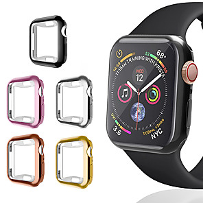 cheap Smartwatch Bands-360 Protection Slim Watch Cover Full case for Apple Watch 4 Soft Clear TPU Screen Protector shell for iWatch 4 44MM 40MM