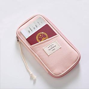 cheap Travel Security-Passport Holder & ID Holder / Travel Passport Wallet / Bag Microfiber Waterproof / Portable / Shock Absorption Solid Color