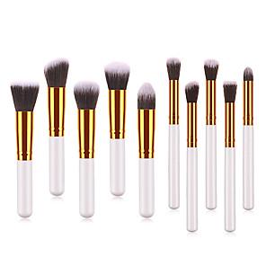 cheap Makeup Brush Sets-Professional Makeup Brushes 10pcs Soft Lovely Comfy Goat Hair Brush Aluminium Alloy 7005 / Wooden / Bamboo for Concealer & Base Powders Foundation Blush Brush Makeup Brush Lip Brush Eyeshadow Brush