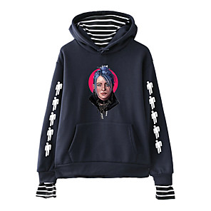 cheap Outdoor IP Network Cameras-Inspired by Cosplay Billie Eilish Cosplay Costume Hoodie Pure Cotton Print Hoodie For Men's / Women's