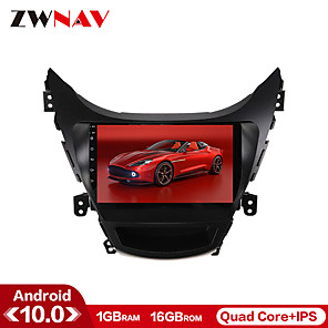 cheap Car DVD Players-ZWNAV 9 inch 1din 1GB 16GB Android 10.0 Car GPS Navigation Car Stereo Player Car Multimedia PlayP CarPlay WIFI For Hyundai Elantra 2010-2013er DS
