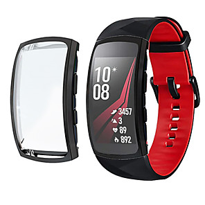 cheap Smartwatch Bands-Cases for Samsung Gear Fit 2 Pro Protective Screen Protector Soft TPU Cover All-Around Bumper Shell Compatible Cases for Samsung Gear Fit 2 Pro SM-R365