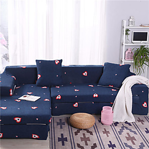 cheap Mosquito Nets-Cartoon Heart Print Dustproof All-powerful Slipcovers Stretch Sofa Cover Super Soft Fabric Couch Cover with One Free Pillow Case