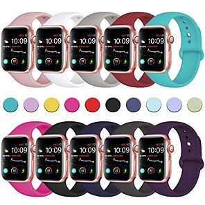cheap Smartwatch Bands-Soft Silicone Sport Band For Apple Watch Series 5 4 3 2 1 42/44mm 38/40mm Wrist Bracelet Strap