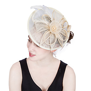 cheap Historical & Vintage Costumes-Elizabeth Audrey Hepburn Women's Adults' Ladies Retro Vintage Feather Net Hat Fascinator Hat Headbands Hair Clip Black White Flower Headwear Lolita Accessories