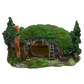 cheap Aquarium Décor & Gravel-Aquarium Decoration Hobbit House Reptile Hole House Shelter Fish Tank Ornament Rockery Landscaping