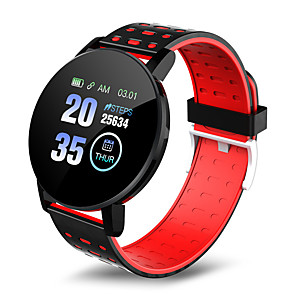 cheap Smartwatch Bands-119 PLUS Unisex Smart Wristbands Android iOS Bluetooth Waterproof Heart Rate Monitor Blood Pressure Measurement Distance Tracking Information Pedometer Call Reminder Activity Tracker Sleep Tracker