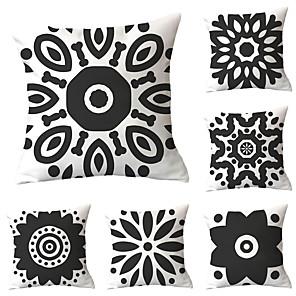 cheap Sale-6 pcs Throw Pillow Simple Classic 45*45 cm Cushion Vintage Circle Cover Sofa Home Decor Throw Pillow Case