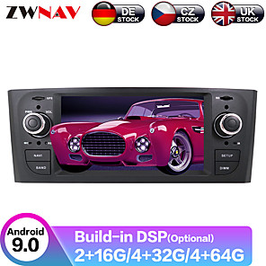 cheap Car DVD Players-ZWNAV 6.2inch 2din Android 9.0 4GB 64GB Car multimedia player Car GPS Navigation Car MP5 Player radio tape recorder For FIAT Punto 2005 For Fiat Linea 2007