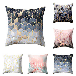 cheap Pillow Covers-6 pcs Polyester Pillow Cover, Geometric Geometic Simple Baroque Square Traditional Classic