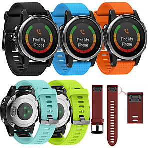 halpa Smartwatch-nauhat-Watch Band varten Fenix 5s Garmin Urheiluhihna Silikoni Rannehihna