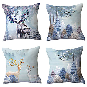 cheap Throw Pillow Covers-Set of 4 Throw Pillow Simple Classic 45*45 cm Cushion Vintage Circle Cover Sofa Home Decor Throw Pillow Case