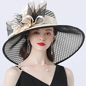 cheap Wedding Dresses-Vintage Style Fashion Tulle / Organza Hats / Headwear with Bowknot / Flower / Trim 1 Piece Wedding / Outdoor Headpiece