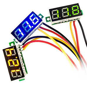 cheap Robots & Accessories-Mini DC 0-100V 3-Digital Voltmeter Red LED Voltage Panel Meter 3-Wires