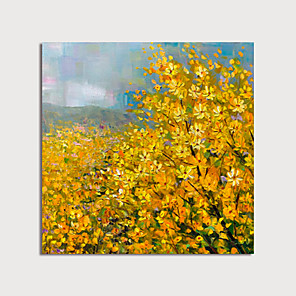 cheap Floral/Botanical Paintings-Hand Painted Canvas Oilpainting Abstract Flowers by Knife Home Decoration with Frame Painting Ready to Hang