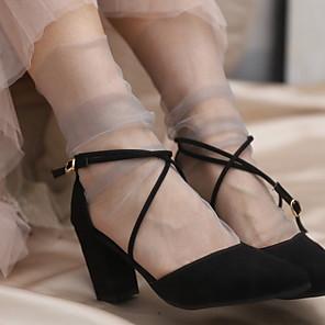 cheap Women's Heels-1 Pair Women's Socks Standard Creative Sports Simple Style Polyester EU36-EU46