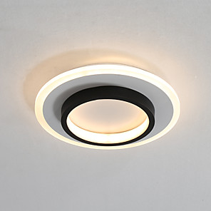 cheap Flush Mounts & Semi Flush Mounts-PUSHENG 24 cm Geometric Shapes Flush Mount Lights Modern 220-240V